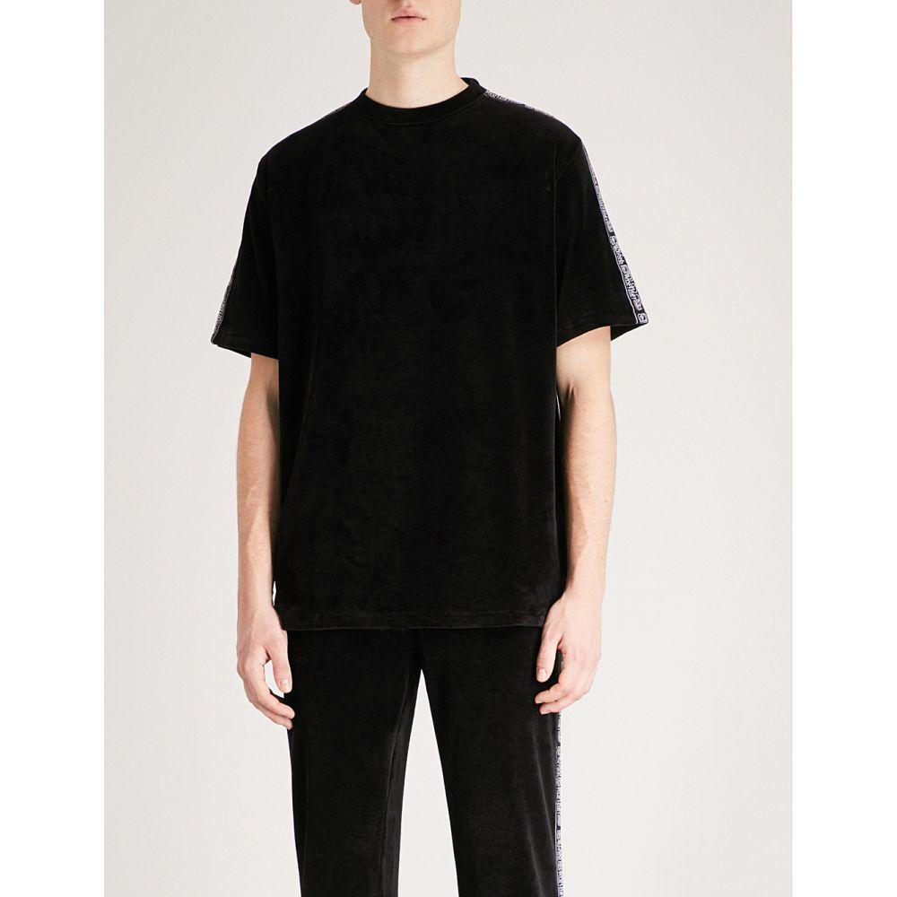 ブラッドブラザー メンズ トップス Tシャツ【bonus side-stripe velour t-shirt】Black