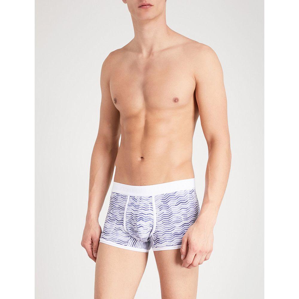 【在庫あり】 エルメネジルド ゼニア メンズ インナー・下着 ボクサーパンツ stretch-jersey【chevron エルメネジルド slim-fit shorts】White stretch-jersey boxer shorts】White blue, PUREHEART自然館:77858e5b --- business.personalco5.dominiotemporario.com