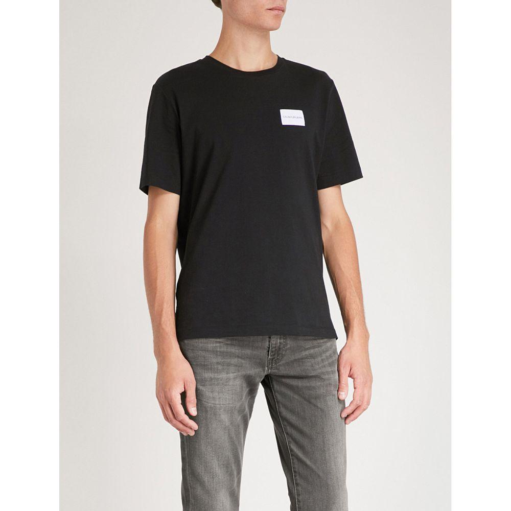 シーケージーンズ メンズ トップス Tシャツ【logo-print cotton-jersey t-shirt】Ck black