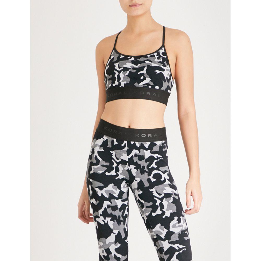 コラール レディース インナー・下着 スポーツブラ【sweeper versatility stretch-jacquard sports bra】Black camo with black