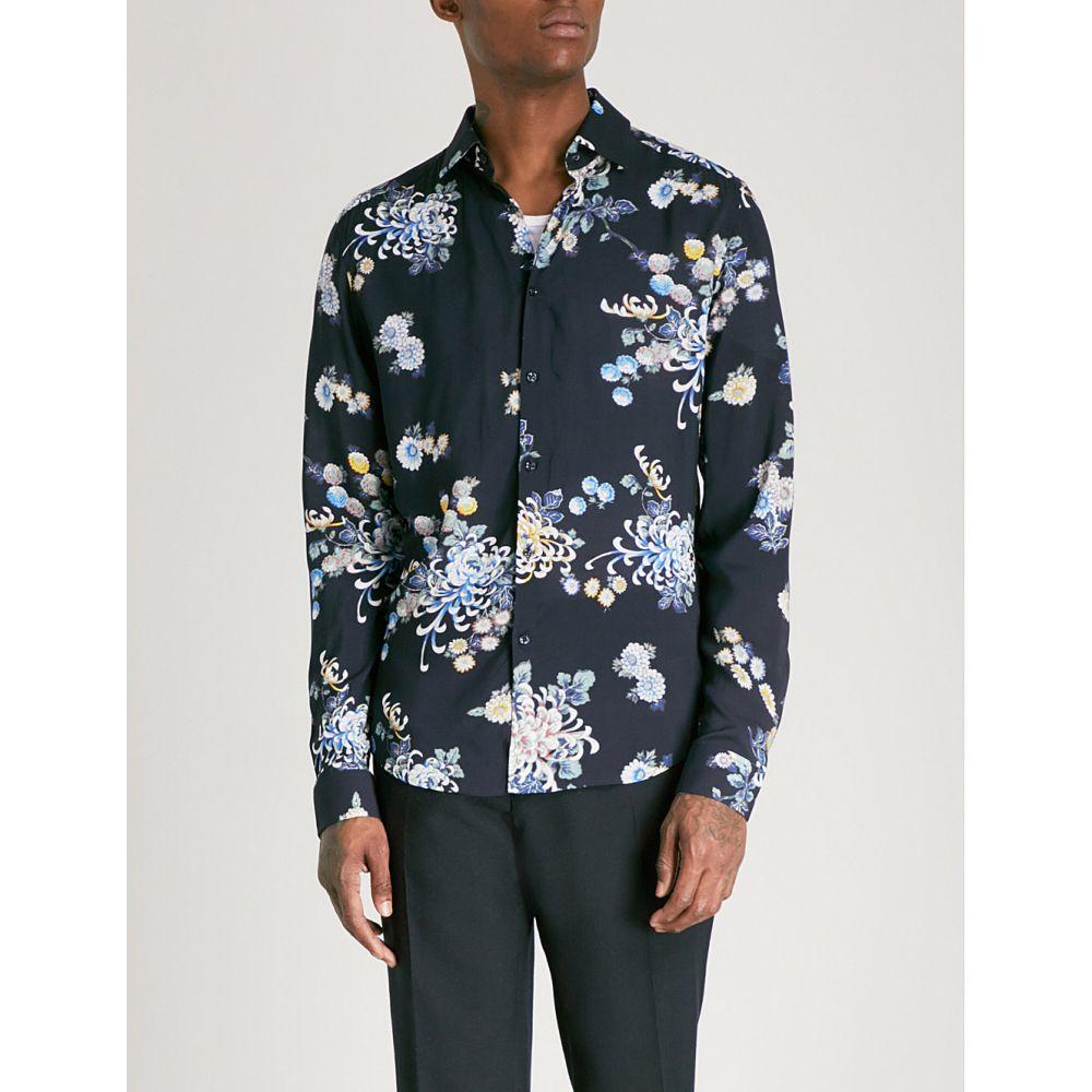 リース メンズ トップス シャツ【honour slim-fit woven shirt】Navy