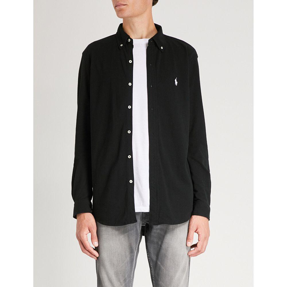 ラルフ ローレン メンズ トップス シャツ【branded mesh cotton shirt】Polo black