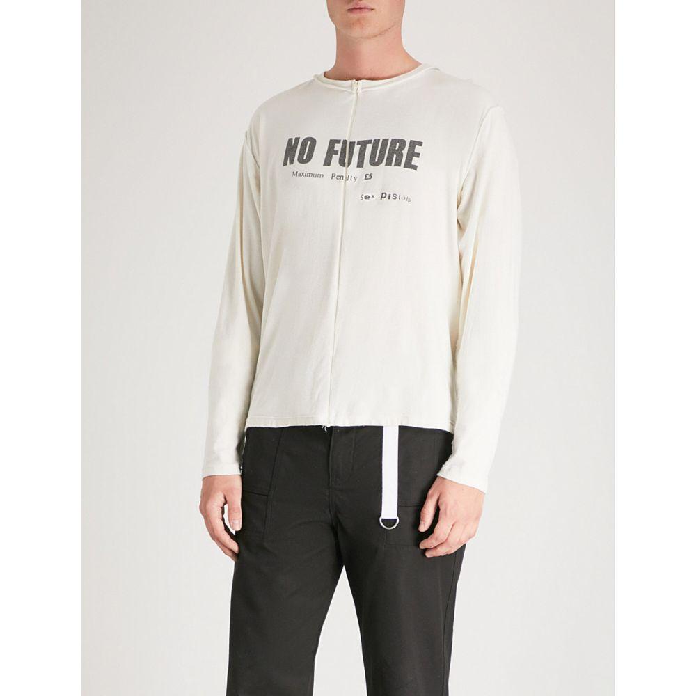 ミッドナイト スタジオ メンズ トップス Tシャツ【no future cotton-jersey t-shirt】Cream