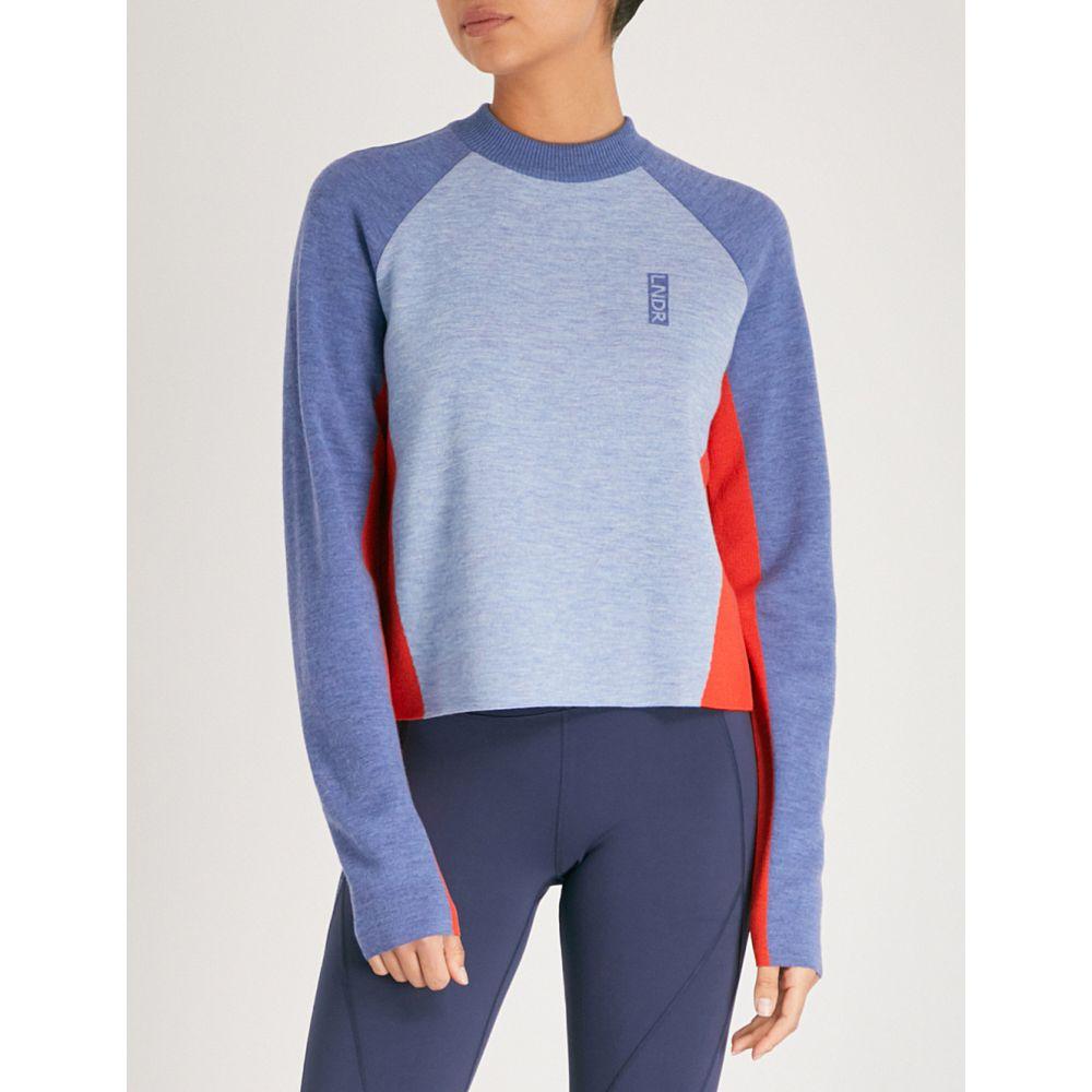 LNDR レディース トップス ニット・セーター【snug cropped merino wool jumper】Pale blue