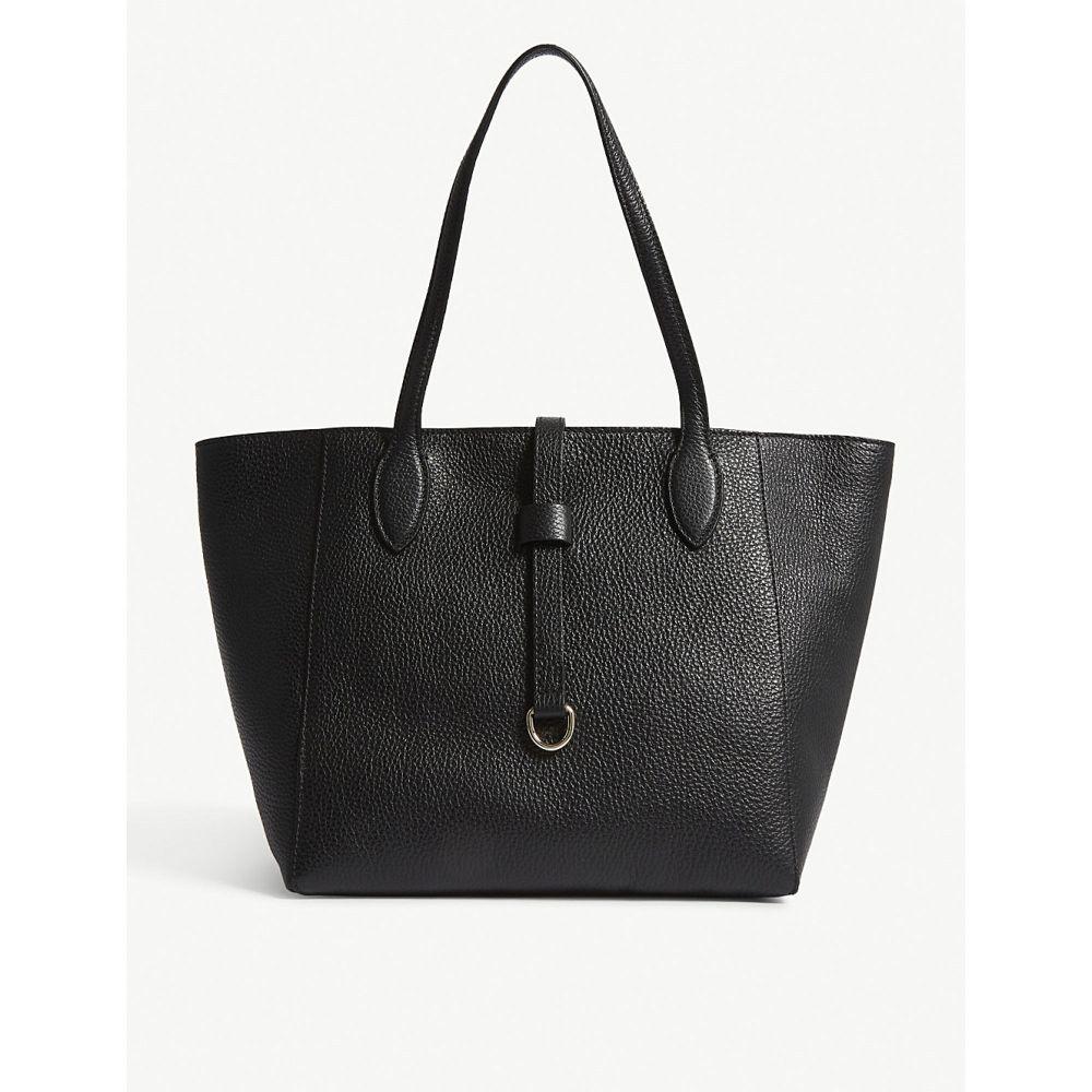 ホイッスルズ レディース バッグ トートバッグ【mini shaftesbury pebbled leather tote】Black