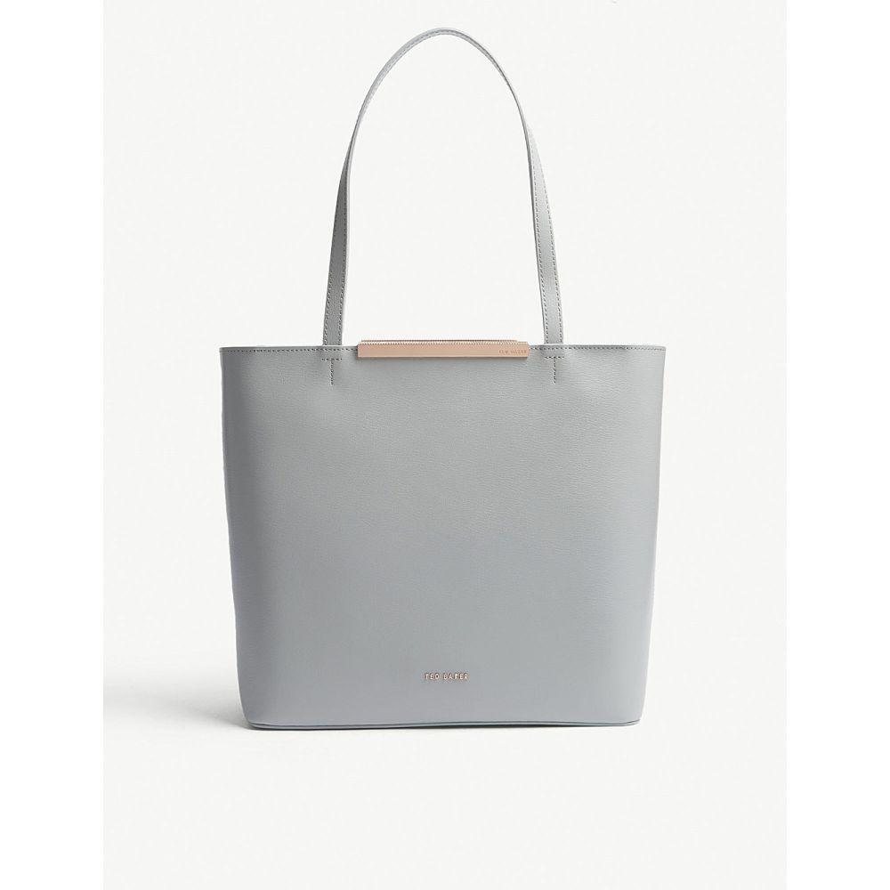 テッドベーカー レディース バッグ トートバッグ【melisa large leather tote】Grey