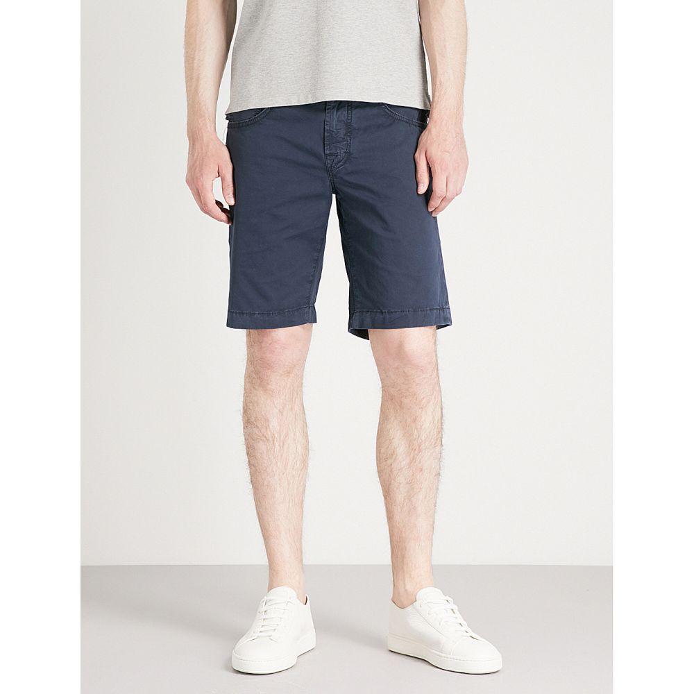 ヤコブ コーエン メンズ ボトムス・パンツ ショートパンツ【tailored-fit stretch-cotton chino shorts】Blue