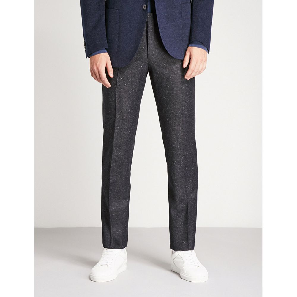 コルネリアーニ メンズ ボトムス・パンツ スラックス【academy-fit wool and silk-blend trousers】Navy