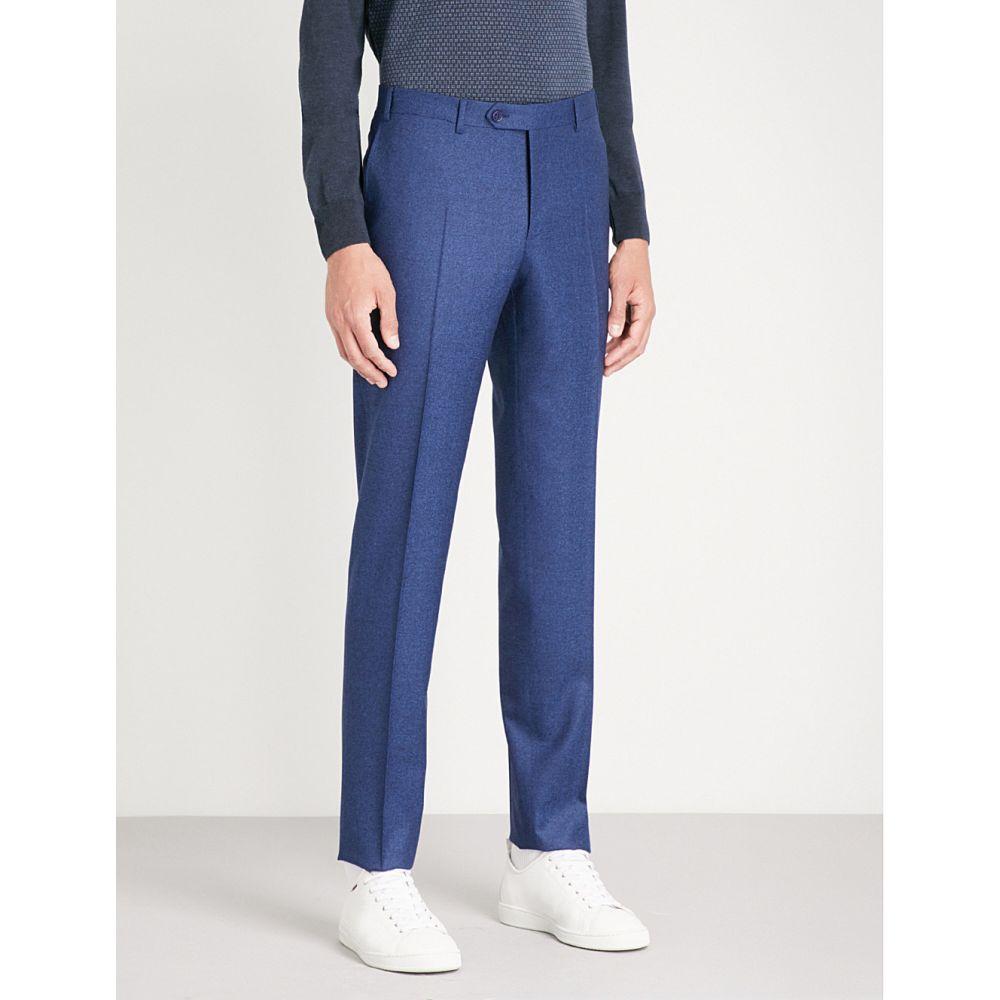 カナーリ メンズ ボトムス・パンツ スラックス【regular-fit wool-flannel trousers】Blue