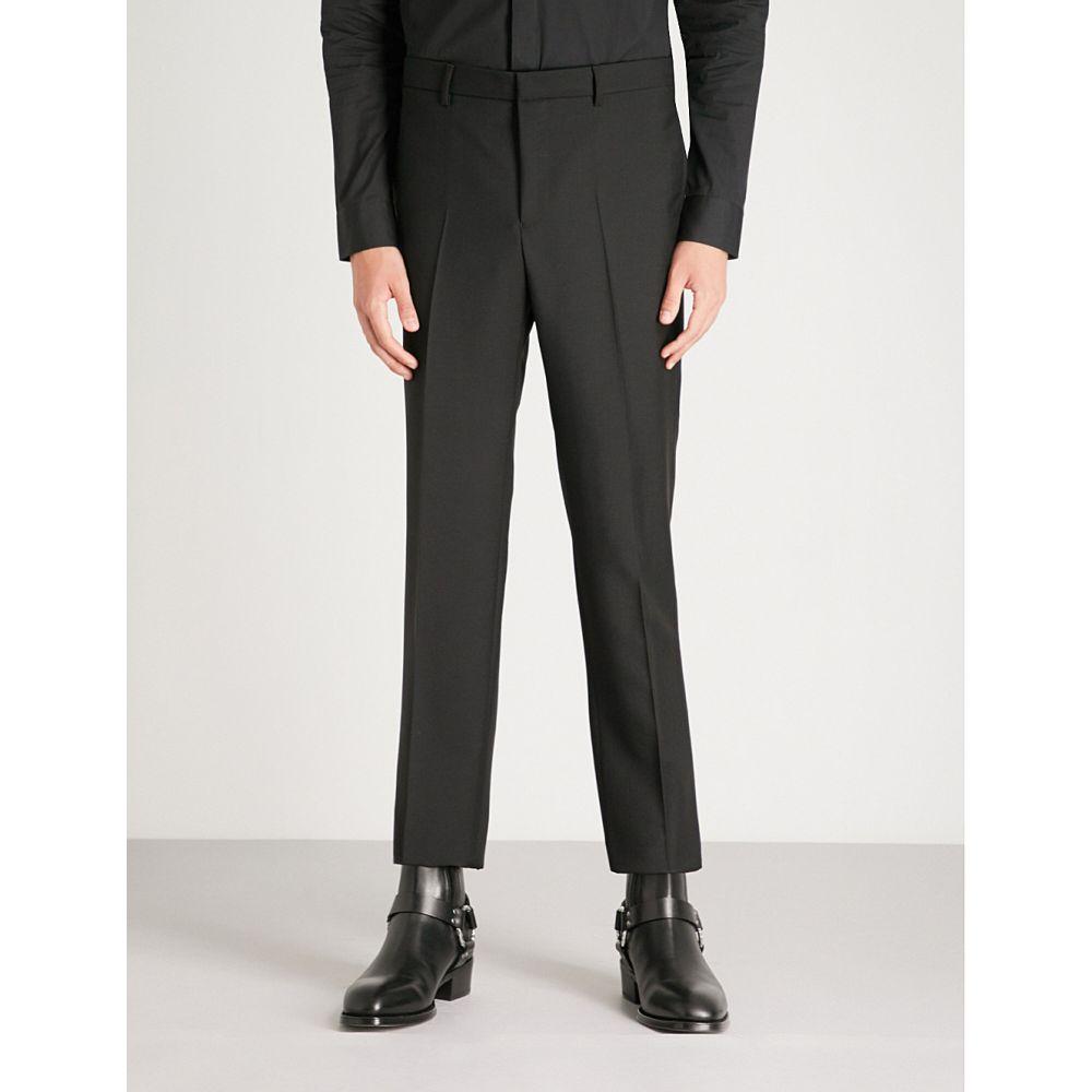 ジバンシー メンズ ボトムス・パンツ スラックス【slim-fit tapered wool and mohair-blend trousers】Black
