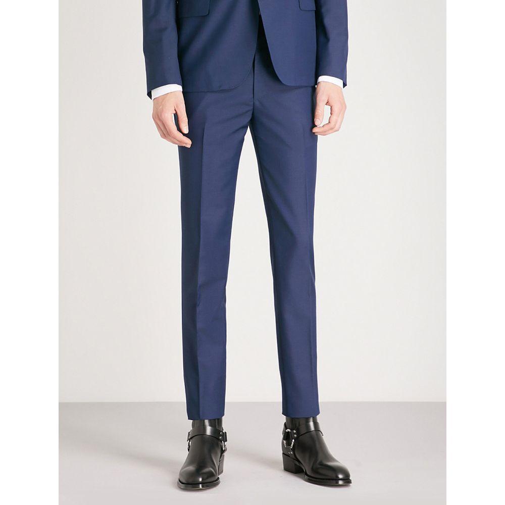 アレキサンダー マックイーン メンズ ボトムス・パンツ スラックス【regular-fit straight wool and mohair-blend trousers】Blue