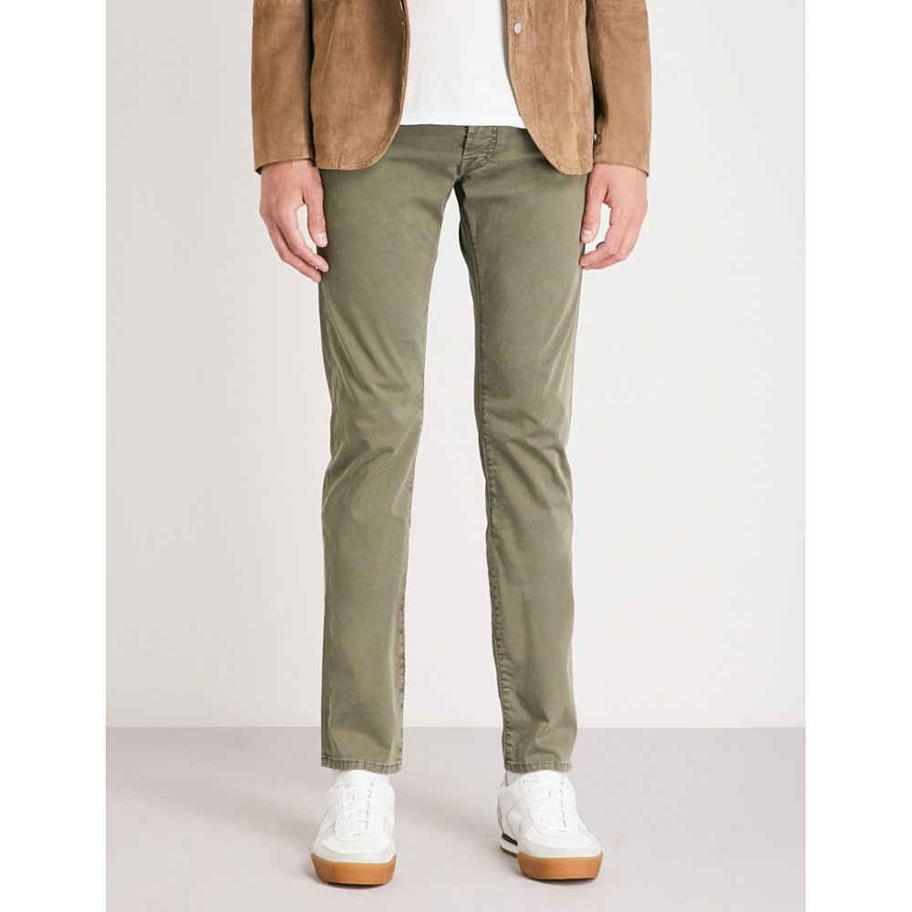 ヤコブ コーエン メンズ ボトムス・パンツ ジーンズ・デニム【tailored-fit tapered stretch-cotton jeans】Green