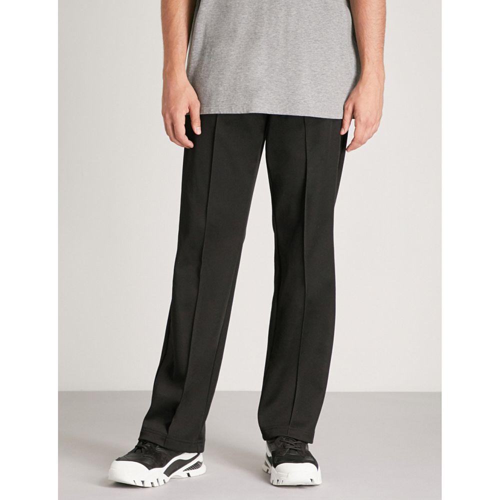 メゾン マルジェラ メンズ ボトムス・パンツ【side-stripe regular-fit straight woven trousers】Black
