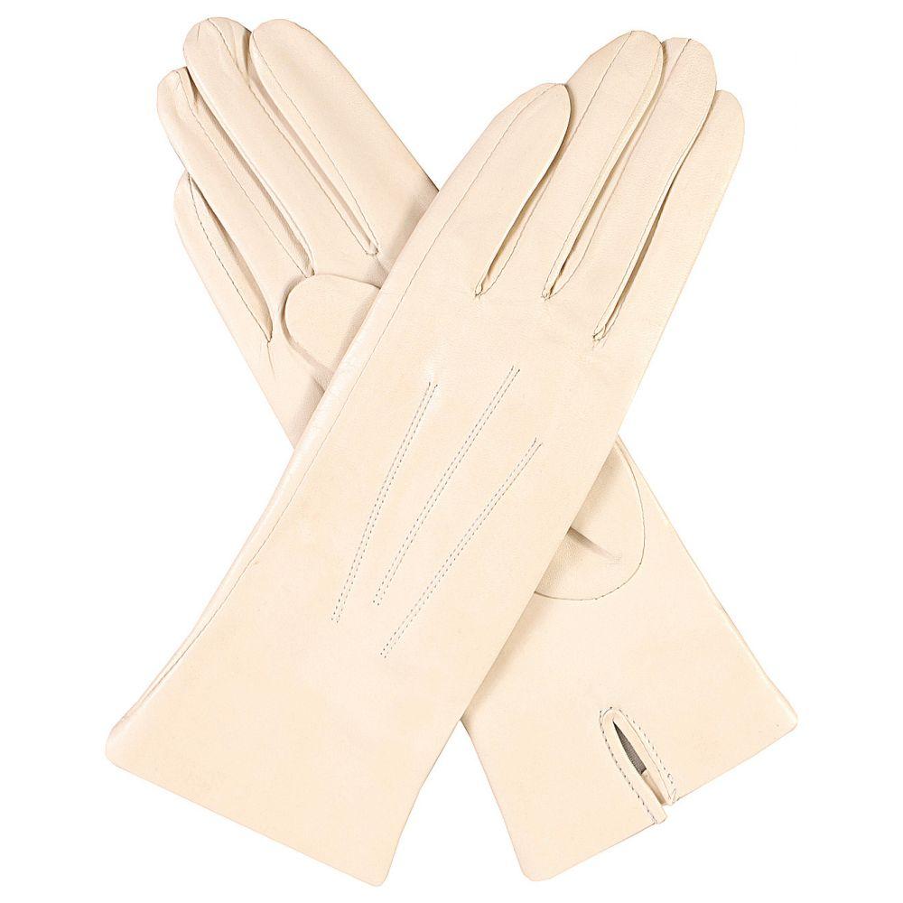 デンツ レディース 手袋・グローブ【classic silk-lined leather gloves】Parchment
