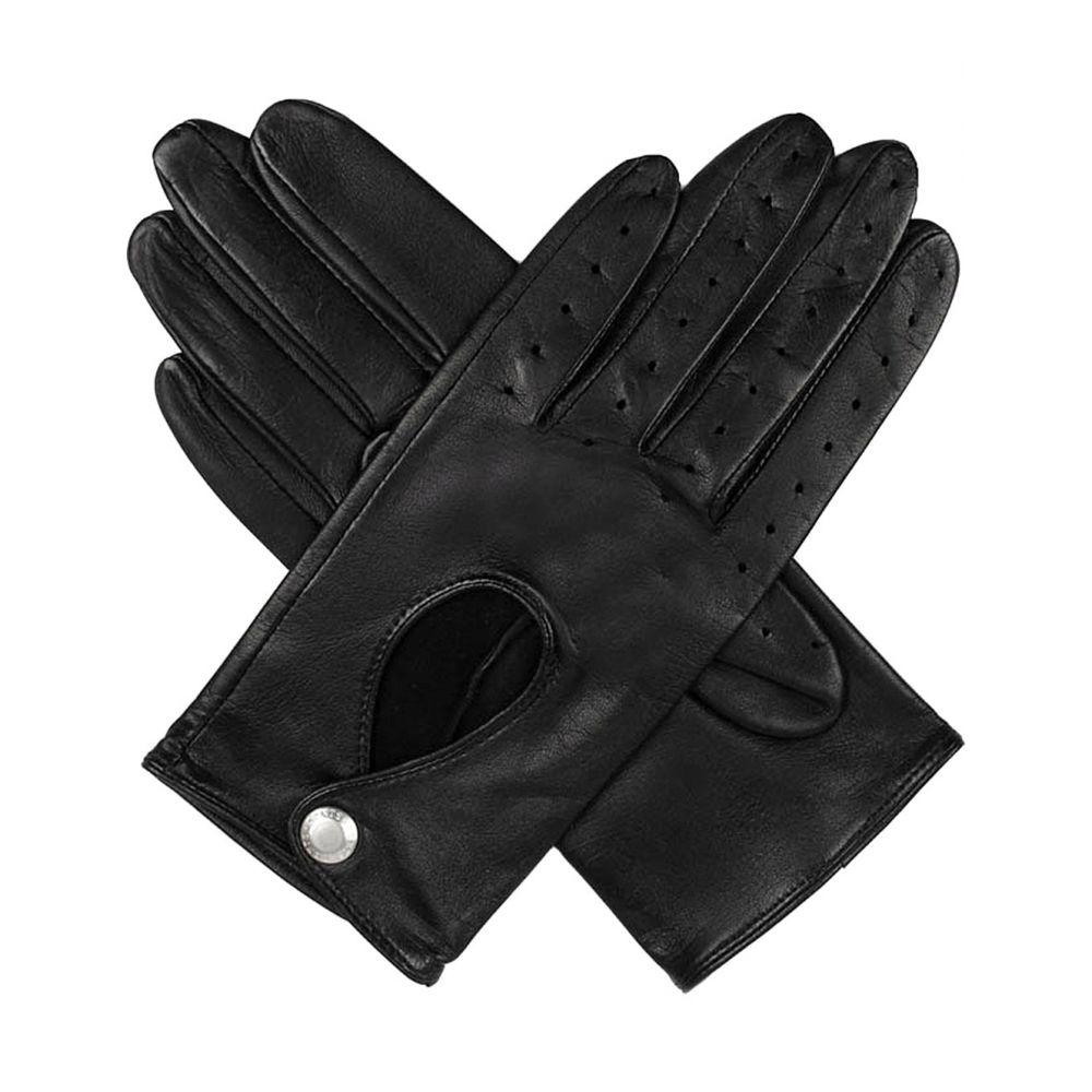デンツ レディース 手袋・グローブ【leather keyhole driving gloves】Black