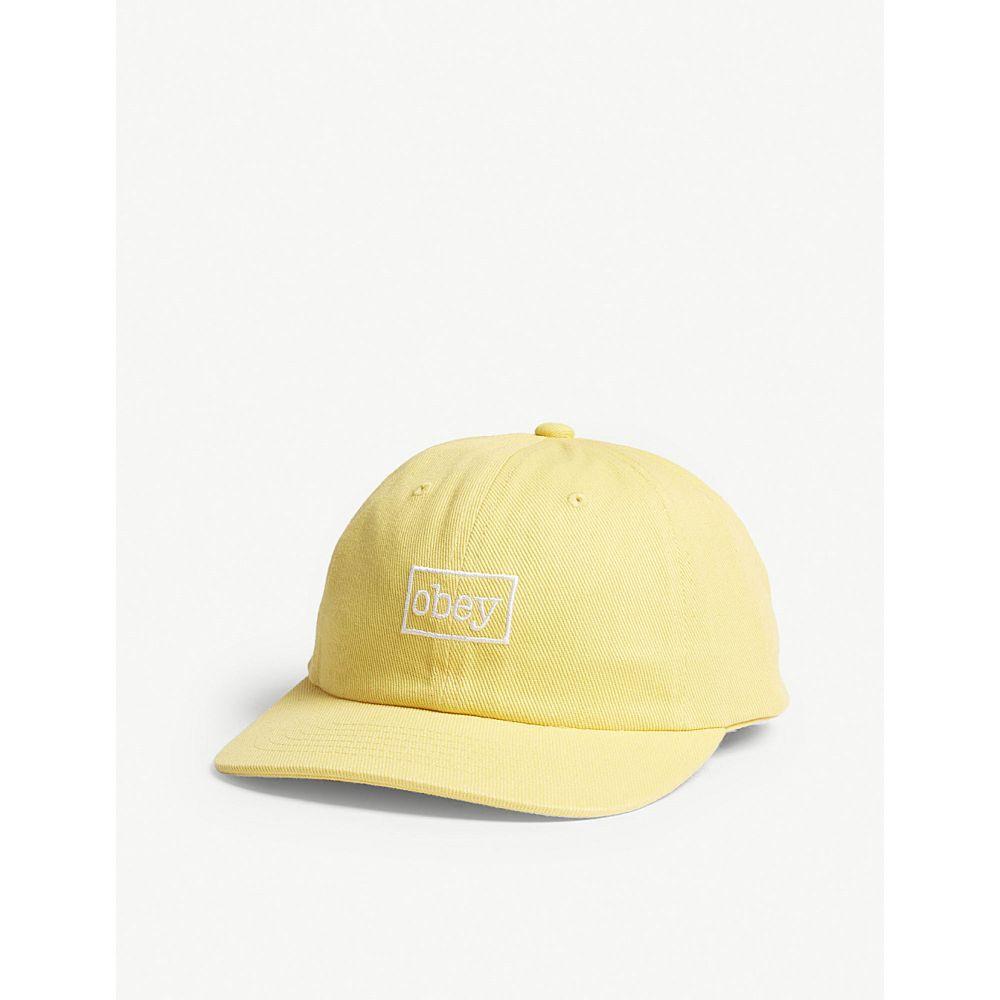 オベイ メンズ 帽子 キャップ【logo cotton snapback cap】Dusty yellow