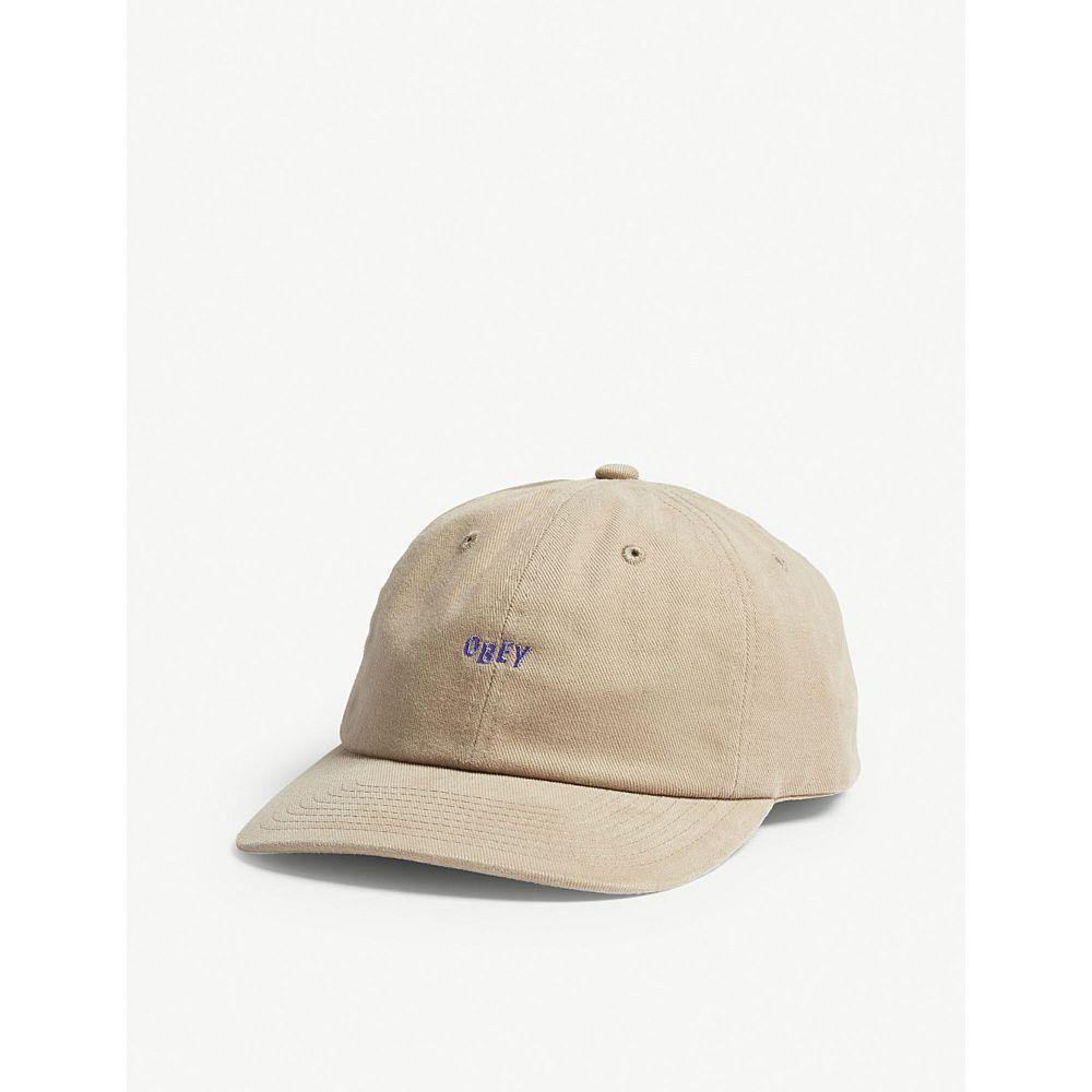 オベイ メンズ 帽子 キャップ【cutty 6 cotton baseball cap】Khaki