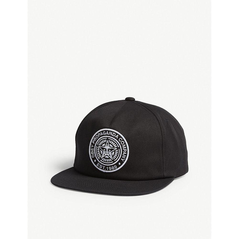 オベイ メンズ 帽子 キャップ【logo patch snapback cap】Black