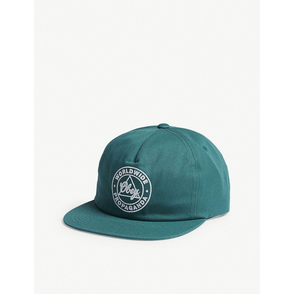 オベイ メンズ 帽子 キャップ【logo cotton snapback cap】Light spruce