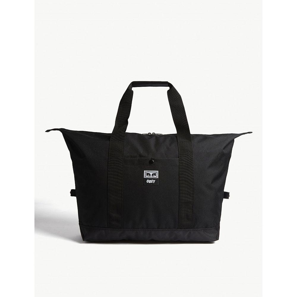【高知インター店】 オベイ メンズ バッグ メンズ ボストンバッグ・ダッフルバッグ オベイ【drop out bag】Black canvas duffle bag】Black, チュウカソン:6071a1a1 --- hortafacil.dominiotemporario.com