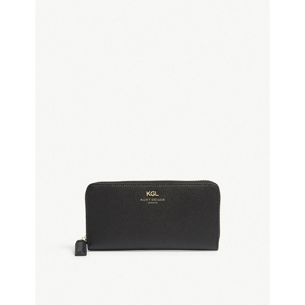 カート ジェイガー レディース 財布【saffiano leather zip-around wallet】Black