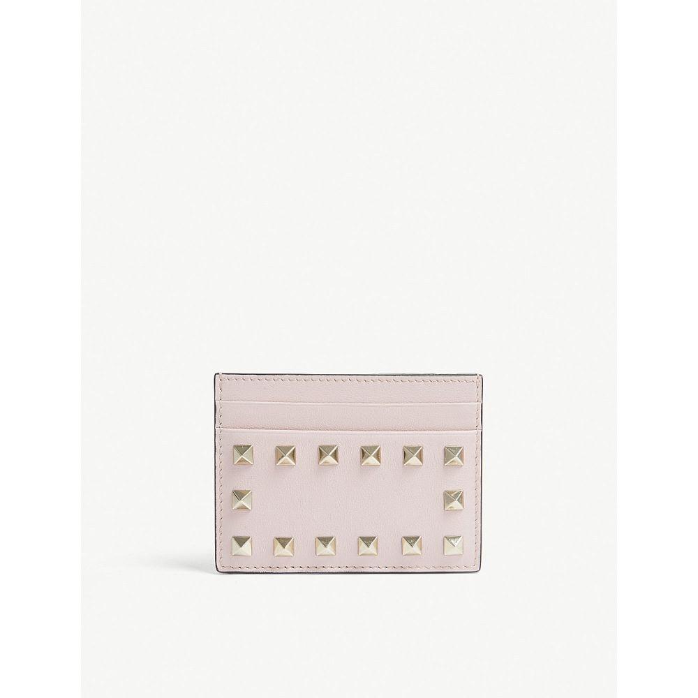 ヴァレンティノ レディース カードケース・名刺入れ【rockstud leather card holder】Water rose