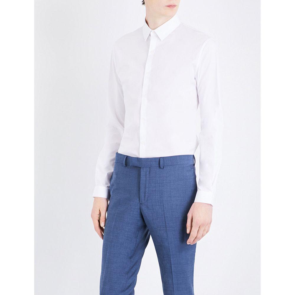 サンドロ メンズ トップス シャツ【slim-fit stretch-cotton shirt】Blanc