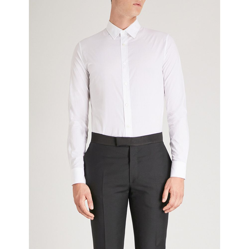 アレキサンダー マックイーン メンズ トップス シャツ【regular-fit cotton shirt】White