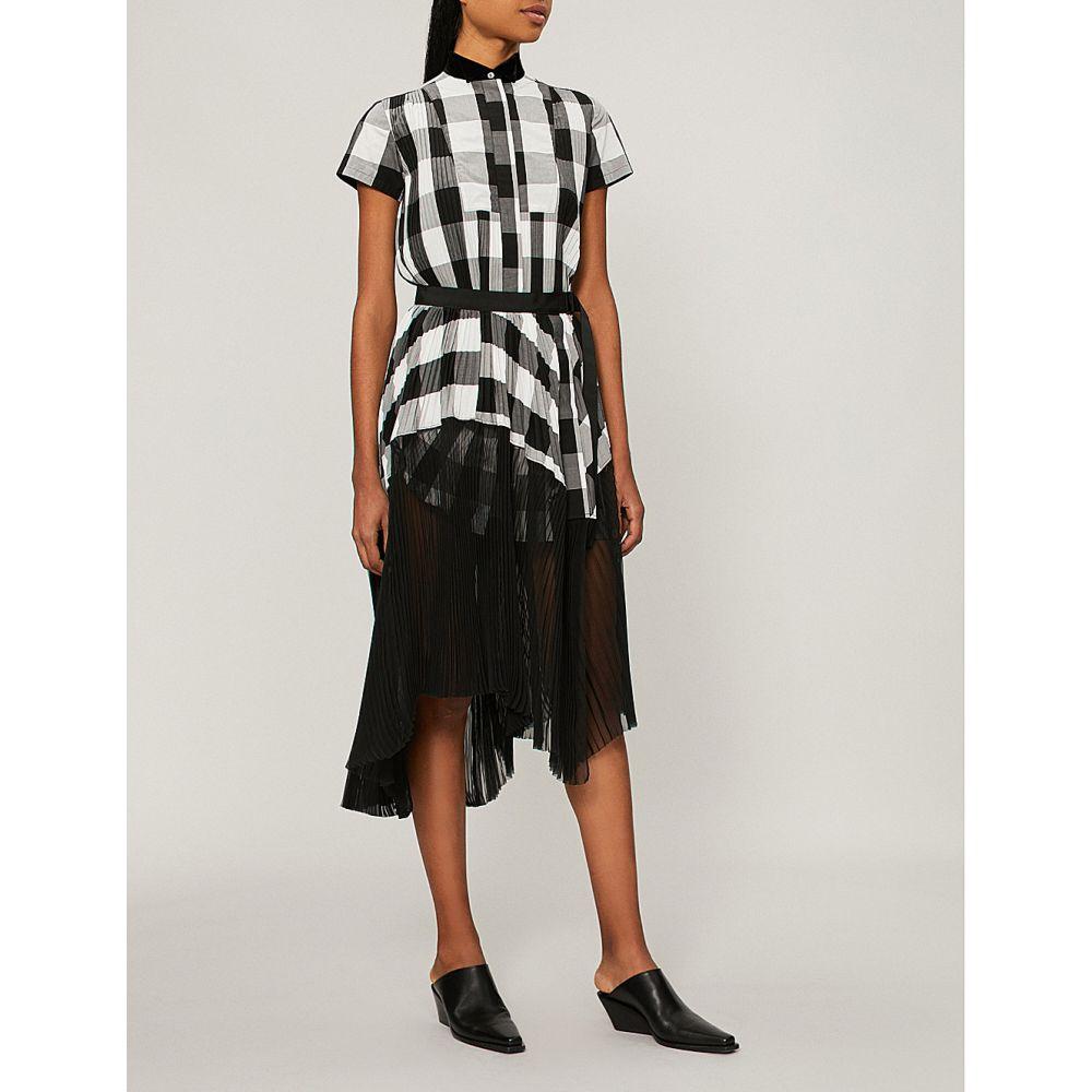 サカイ レディース ワンピース・ドレス ワンピース【pleated plaid dress】Check/black