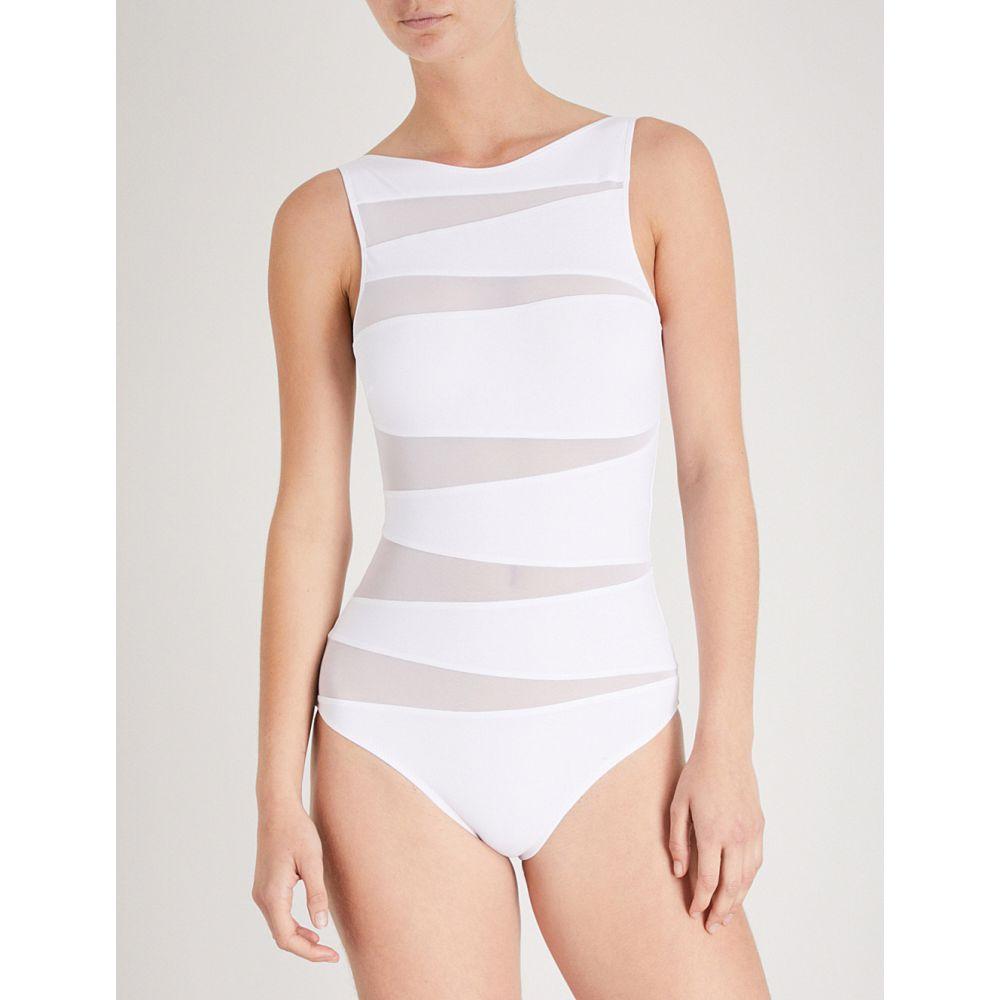 エマパケ レディース 水着・ビーチウェア ワンピース【valentina mesh cutout swimsuit】White