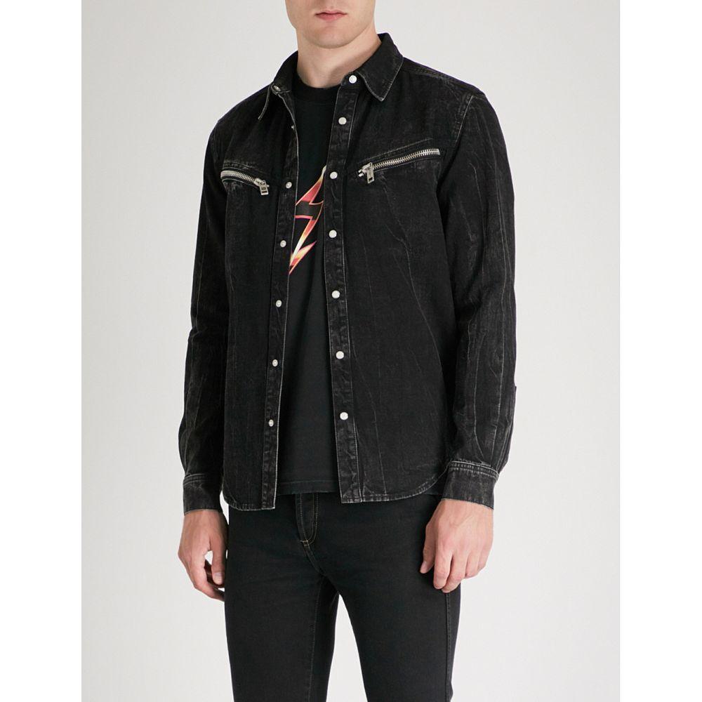ジバンシー メンズ トップス シャツ【faded denim shirt】Black