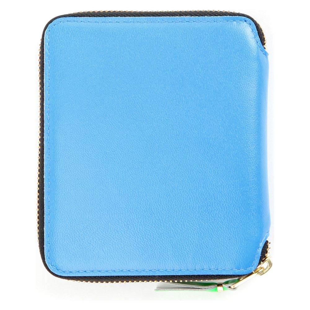 コム デ ギャルソン レディース 財布【fluo medium leather wallet】Blue