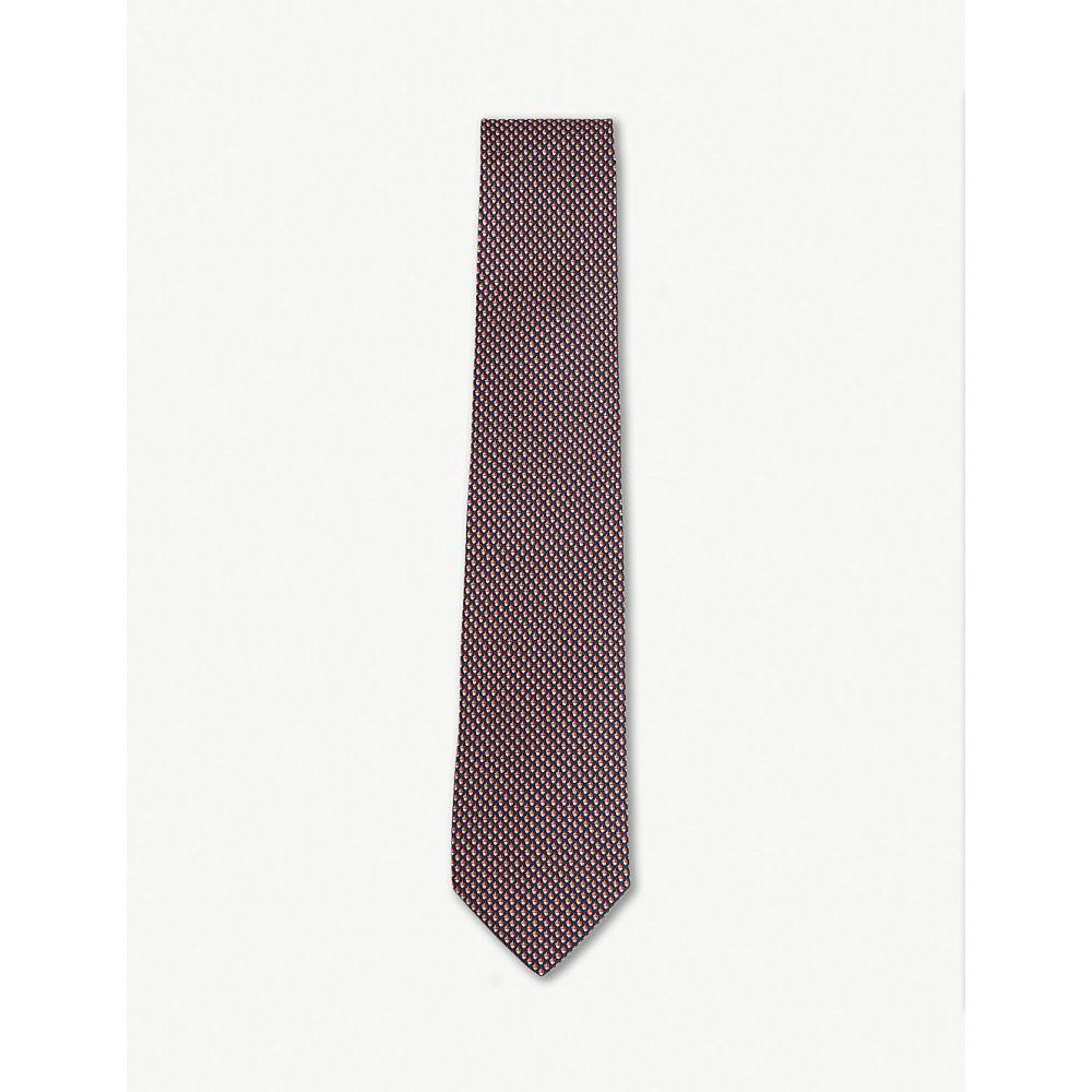 サルヴァトーレ フェラガモ メンズ ネクタイ【acorn silk tie】Red