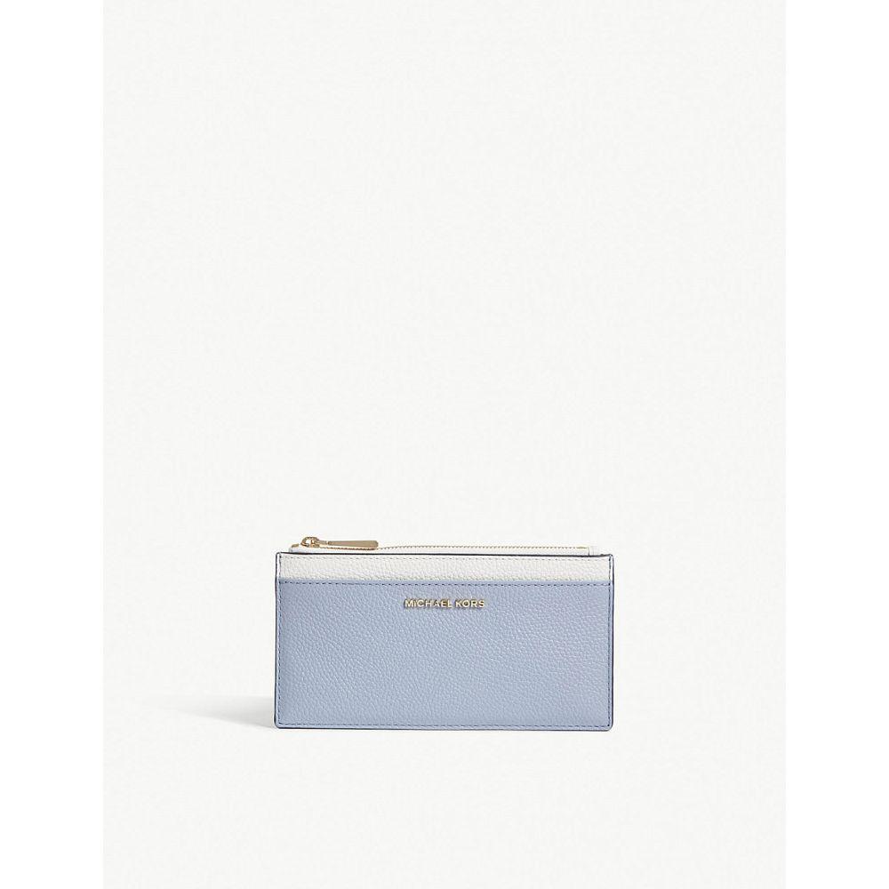 マイケル コース レディース カードケース・名刺入れ【grained leather zipped card case】Plbl/wt/admr