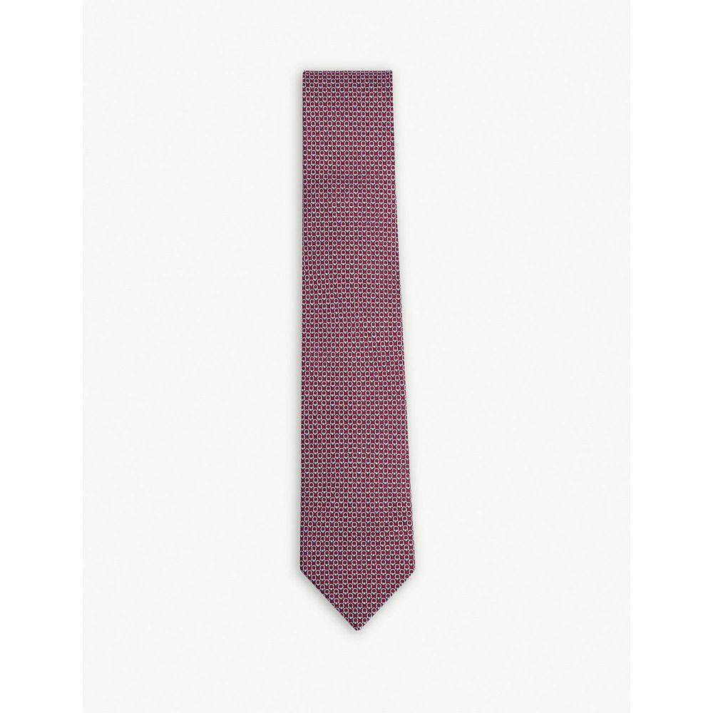 サルヴァトーレ フェラガモ メンズ ネクタイ【gancio logo silk tie】Fuschia