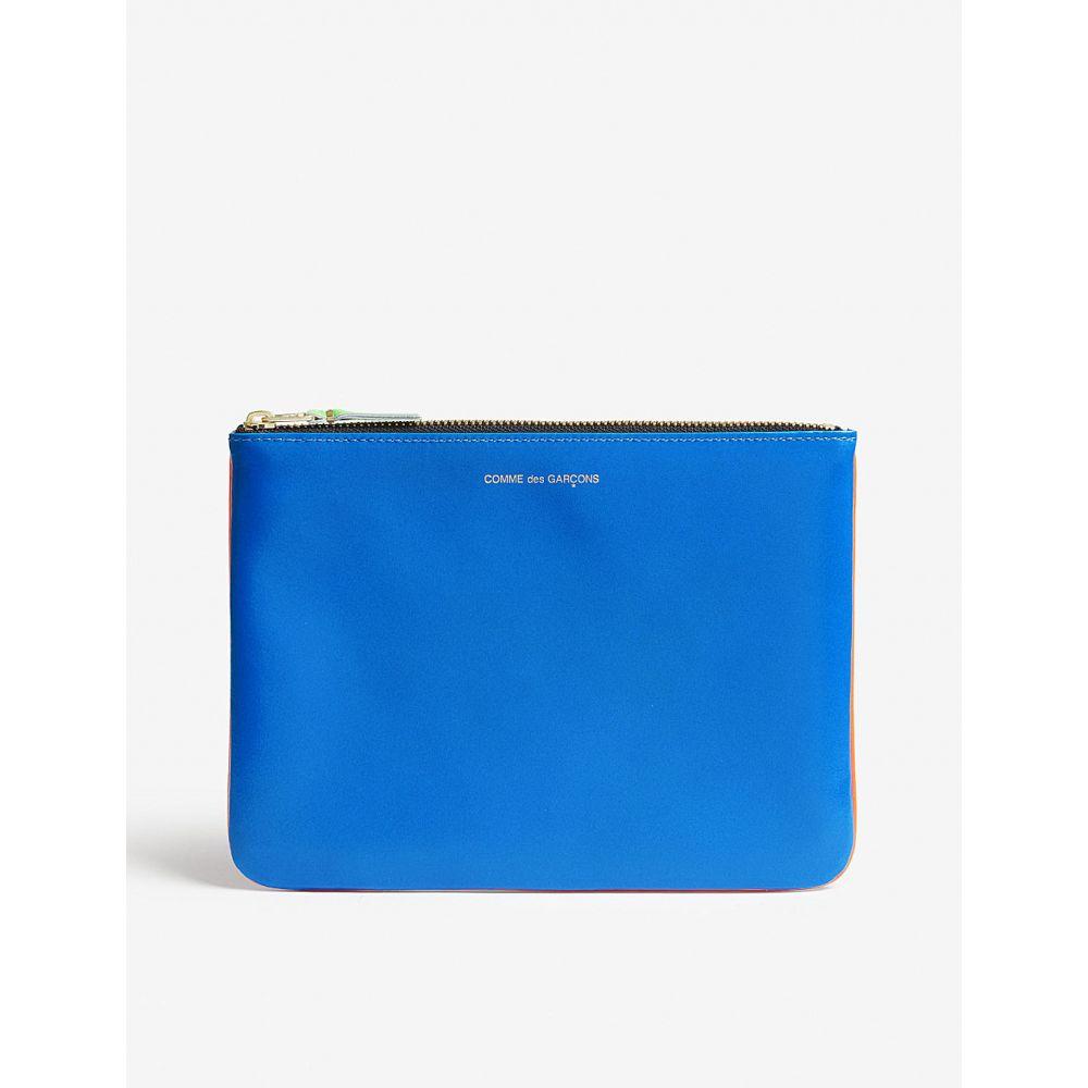 コム デ ギャルソン レディース ポーチ【fluo leather pouch】Orange blue