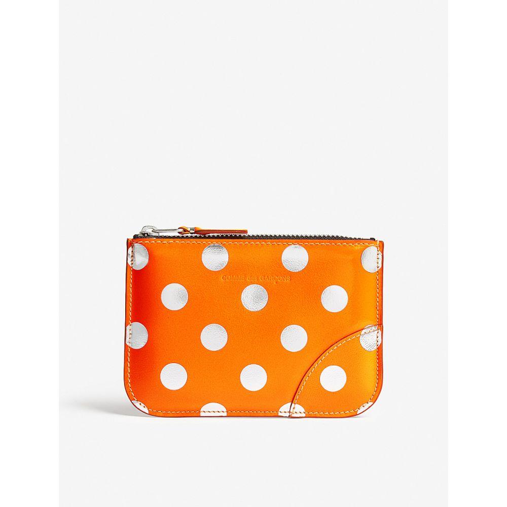 コム デ ギャルソン レディース ポーチ【polka dot small leather pouch】Dot/orange