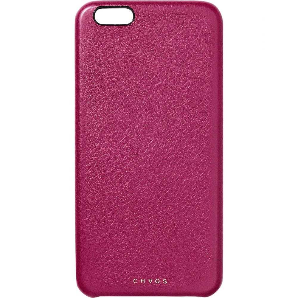 カオス レディース iPhone (7 Plus)ケース【leather iphone 7+ case】Berry