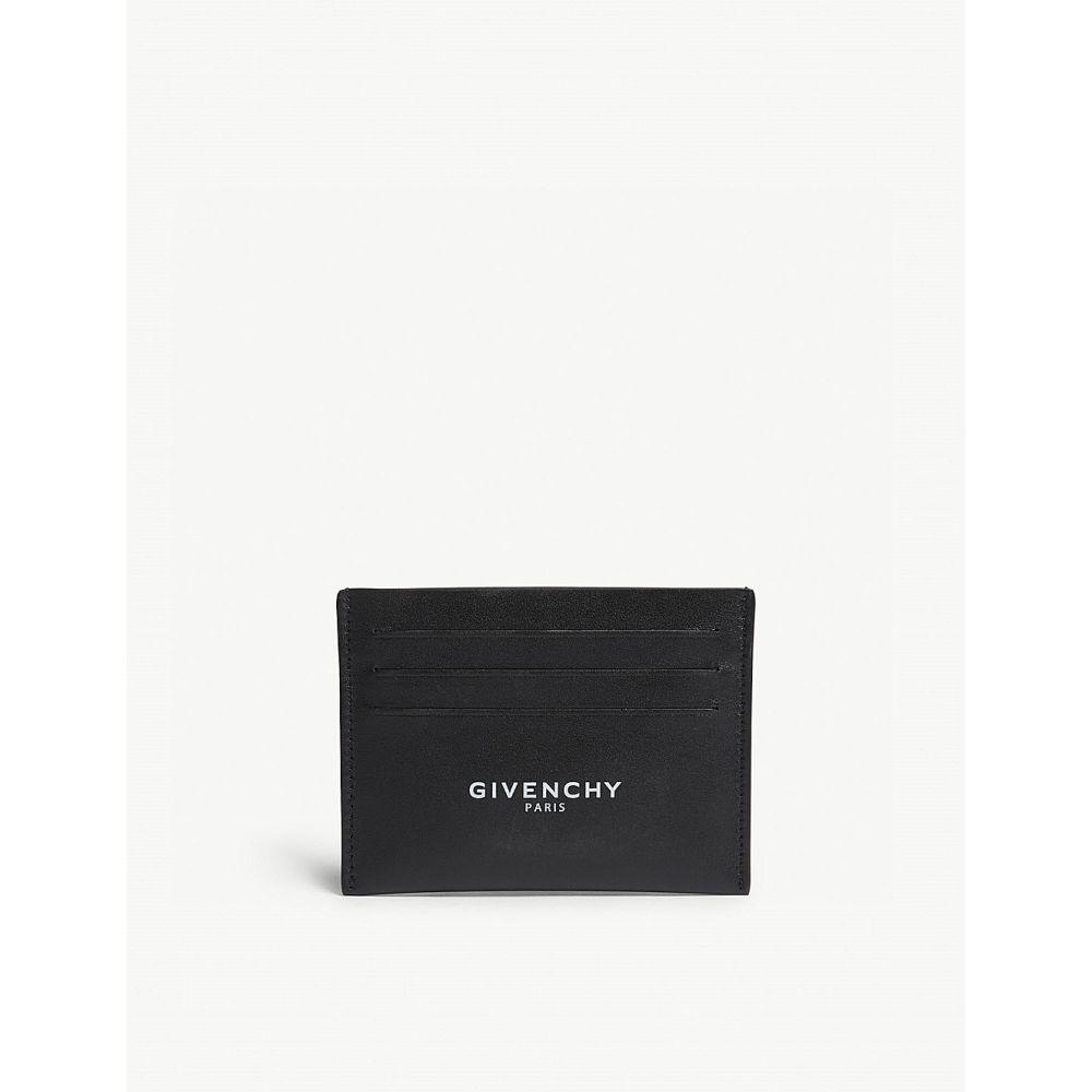 ジバンシー メンズ カードケース・名刺入れ【leather card holder】Black white