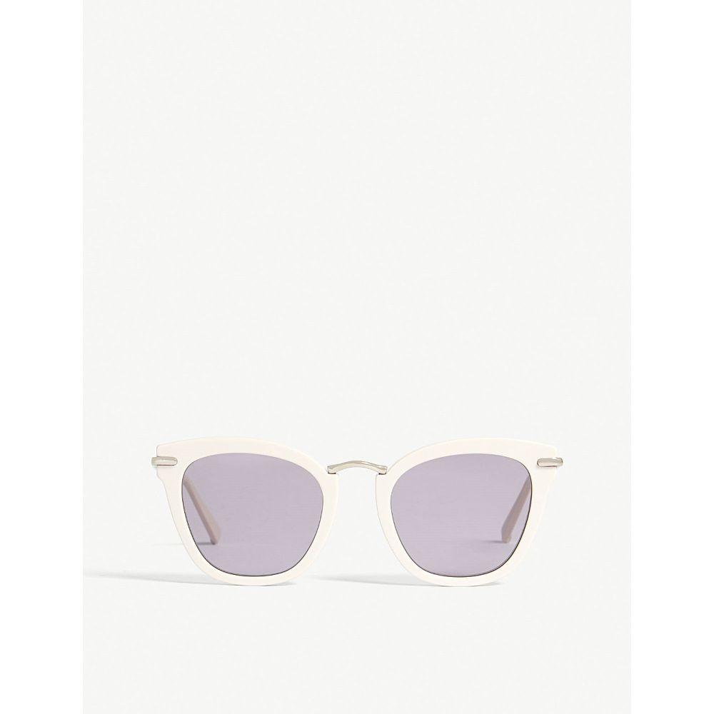 マックスマーラ レディース メガネ・サングラス【needle square-frame sunglasses】Ivory