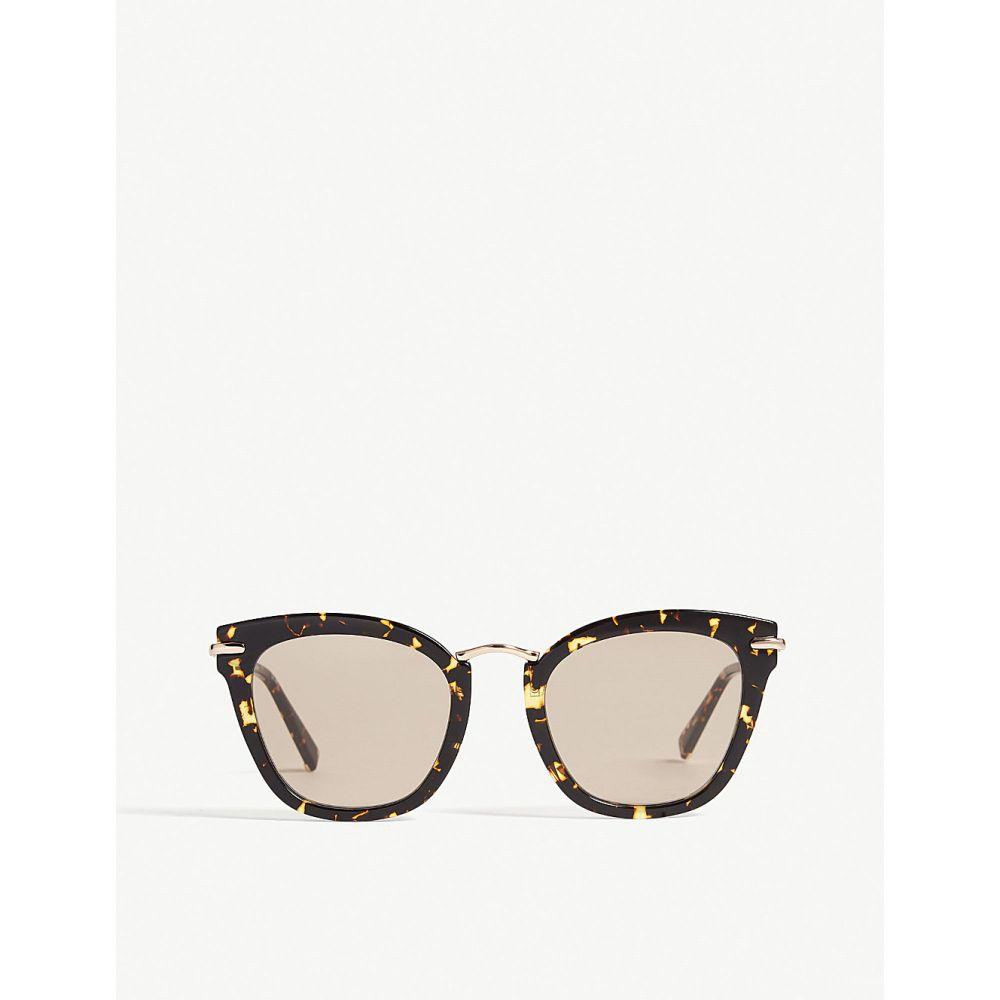 マックスマーラ レディース メガネ・サングラス【needle square-frame sunglasses】Tawny bronze brown