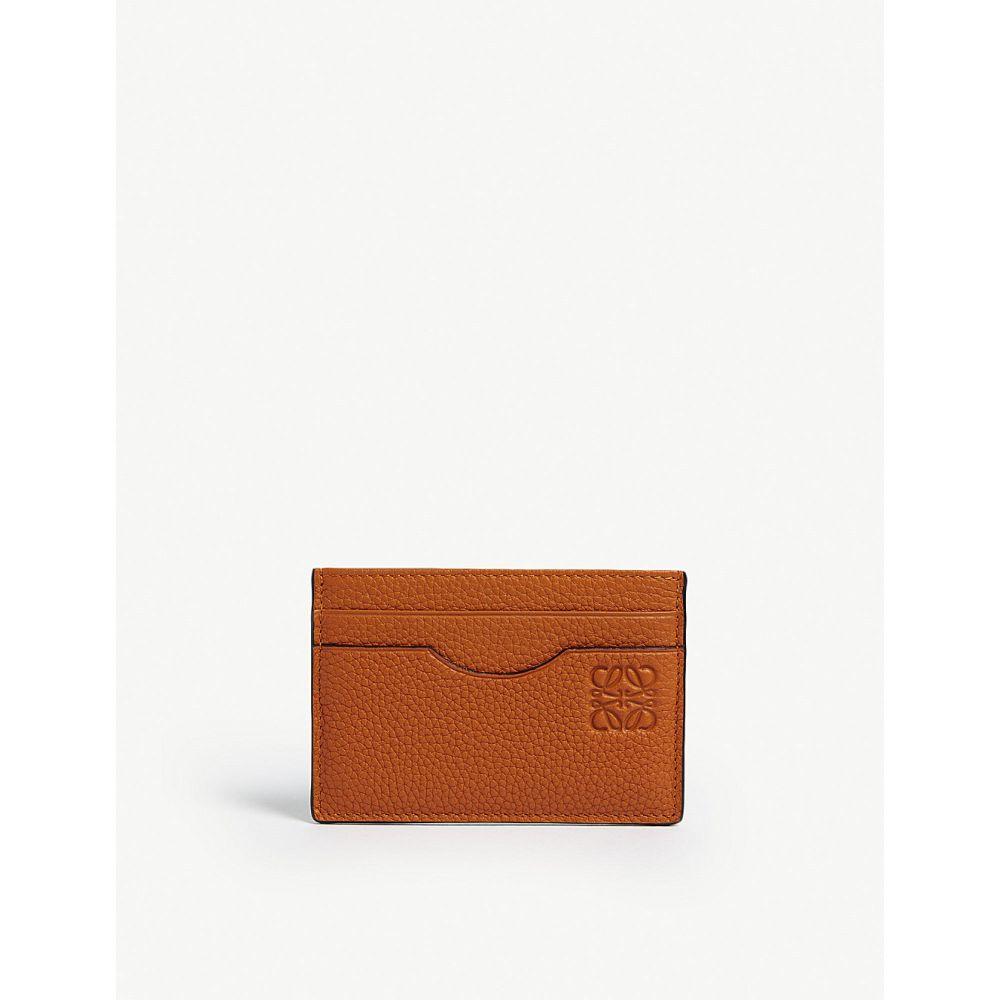 ロエベ メンズ カードケース・名刺入れ【two-tone leather card holder】Org gry
