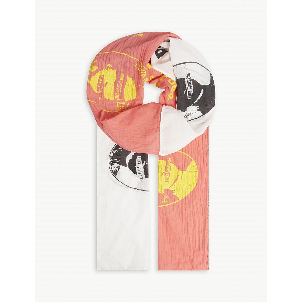 ミッドナイト スタジオ メンズ マフラー・スカーフ・ストール【printed oversized scarf】Pink white