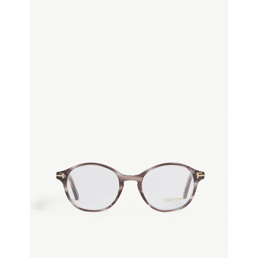 トム フォード メンズ メガネ・サングラス【tf5428 round-frame glasses】Brown