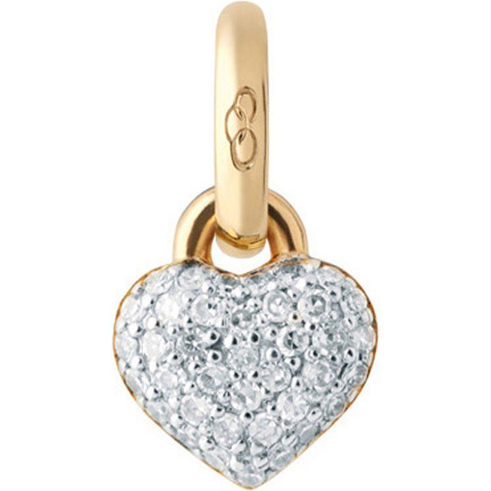 リンクス オブ ロンドン レディース ジュエリー・アクセサリー【18ct yellow-gold and diamond mini heart charm】Gold