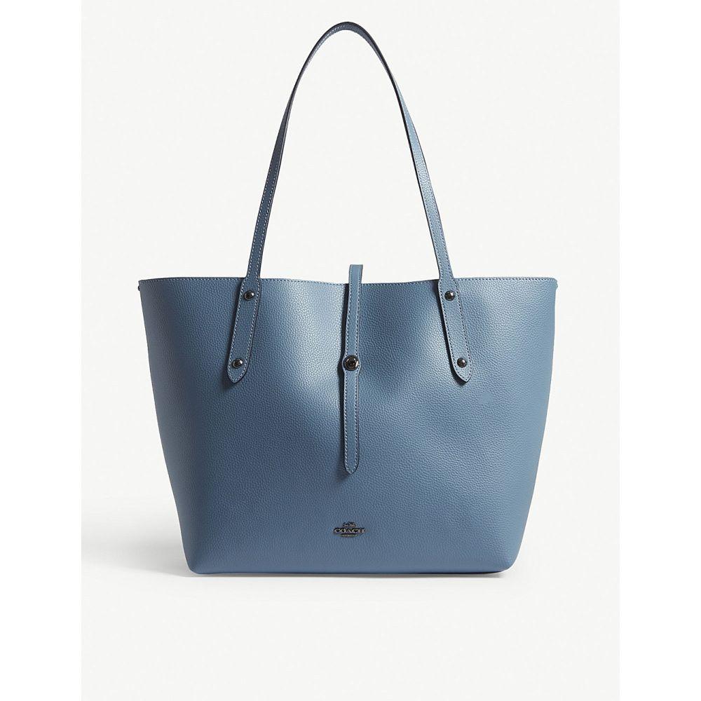 コーチ レディース バッグ トートバッグ【market leather tote bag】Dk/chambray