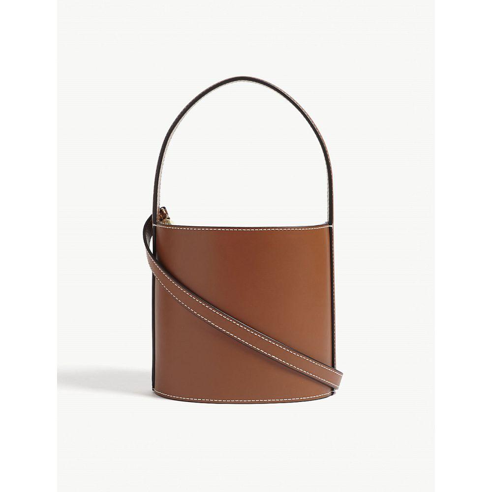 スタッド レディース バッグ ハンドバッグ【bissett leather bucket bag】Brown