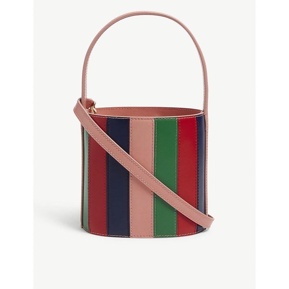 スタッド レディース バッグ ハンドバッグ【bissett leather bucket bag】Ptl/green/red