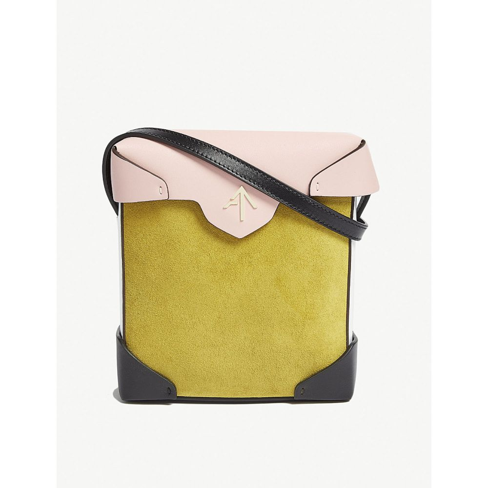マニュ アトリエ レディース バッグ ショルダーバッグ【mini pristine leather and suede cross-body bag】Yellow/bgum/wht/blk
