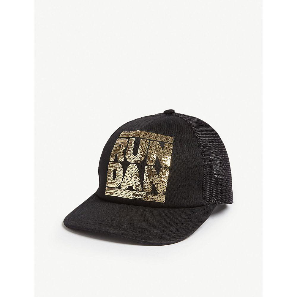 ディースクエアード メンズ 帽子 キャップ【run dan sequinned baseball cap】Black